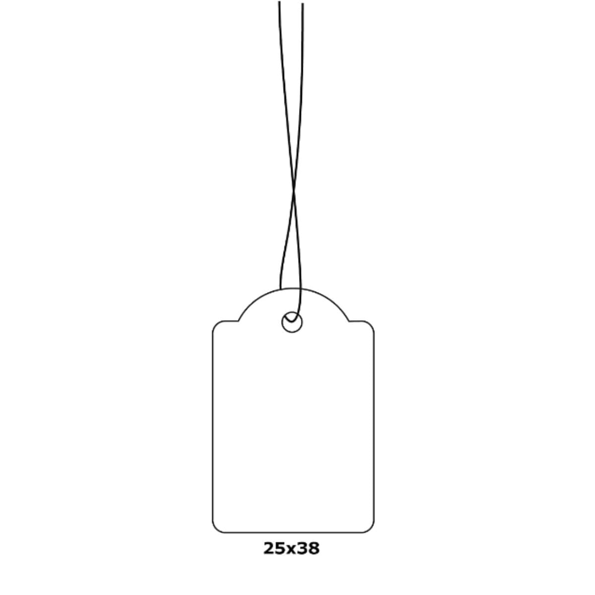 Herma Merchandise Tags with String, 25 x 38 mm, White