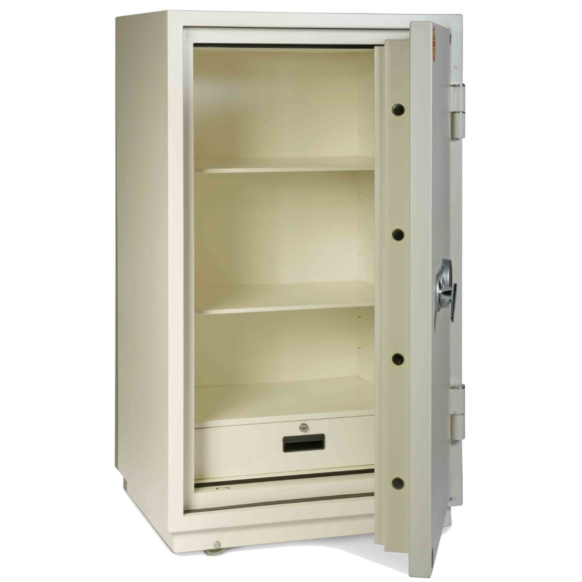 Valberg FRS-120 KL Fire Resistant Safe, 2 Key Locks, White