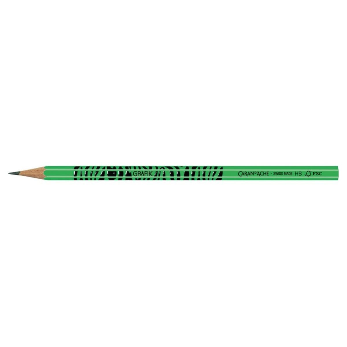 CARAN d'ACHE Graphite pencil 'ZEBRA' HB, Fluo Green