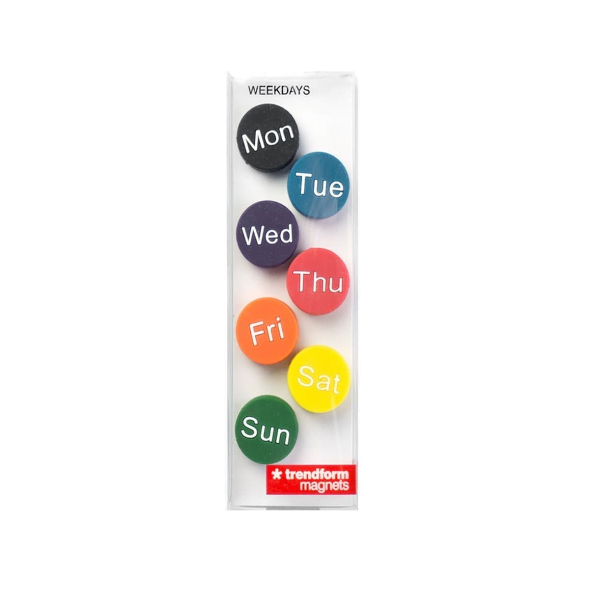 Trendform Magnets WEEKDAYS, Set of 7, Assorted Colors