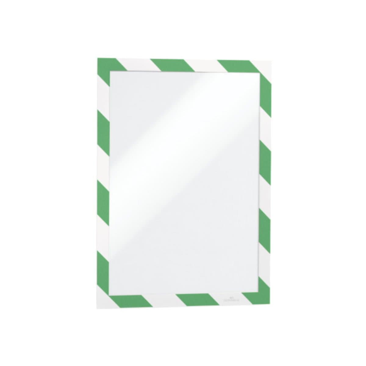 Durable DURAFRAME Security, Self-Adhesive Magnetic Frame A4, 2/pack, Green/White