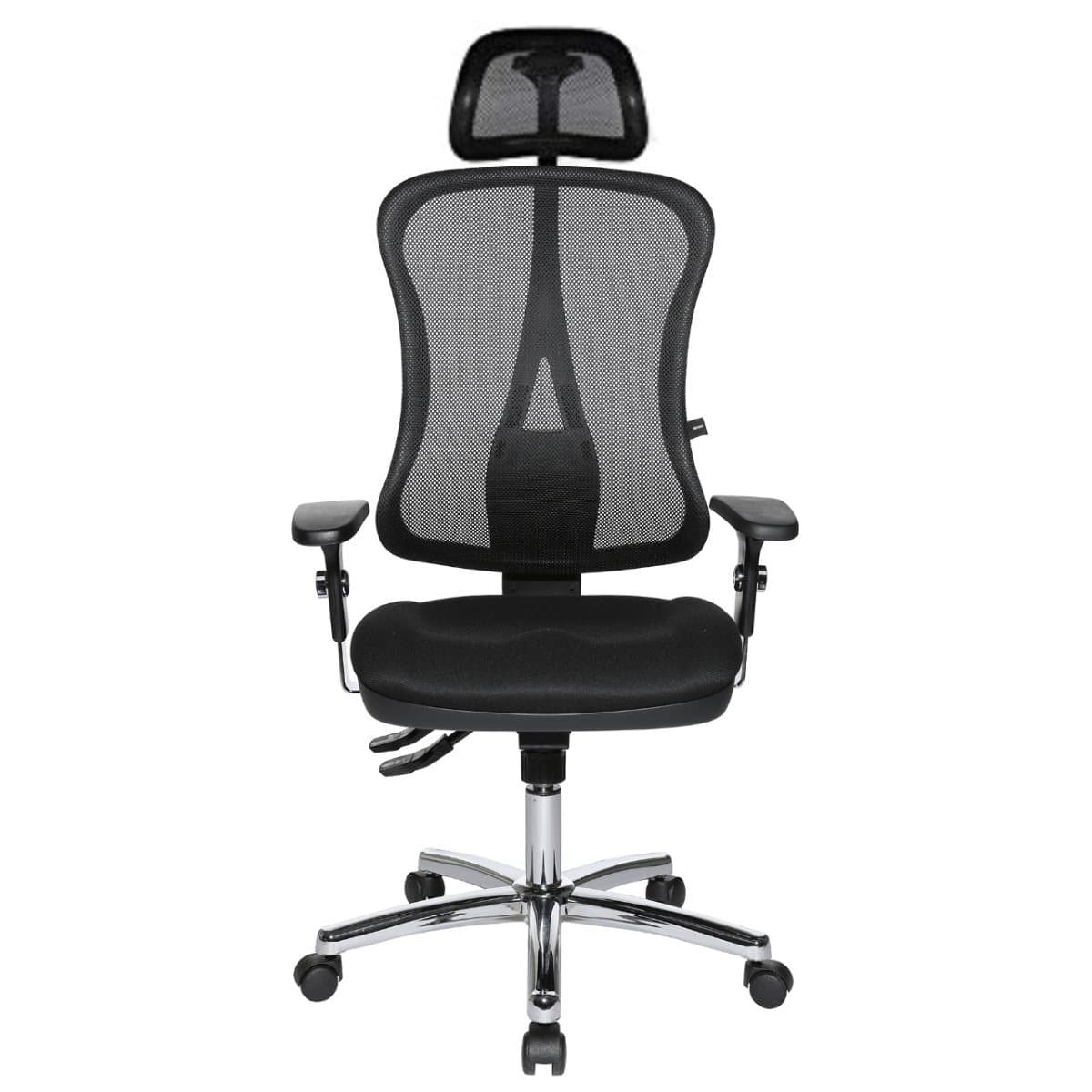 Topstar HEAD POINT SY SOMO Mesh Office Chair with Headrest, Mesh/Fabric Black