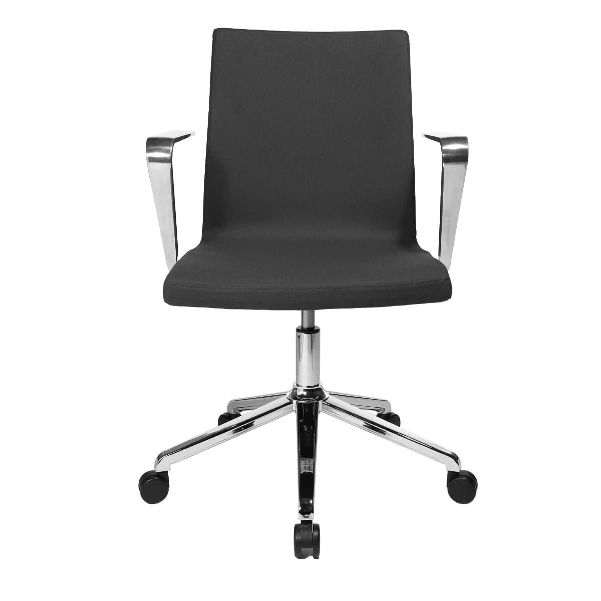 Topstar SITNESS CUBE Swivel Visitor Meeting Chair with armrests, Fabric Anthrazite