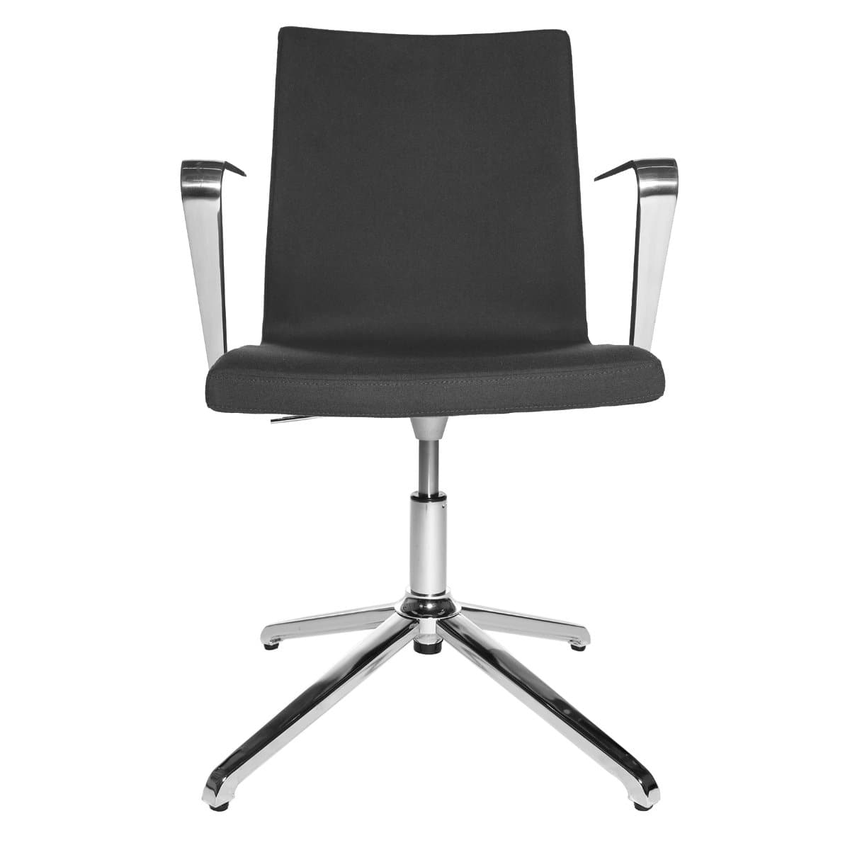 Topstar CUBE Swivel Visitor Meeting Chair with armrests, Fabric Anthrazite