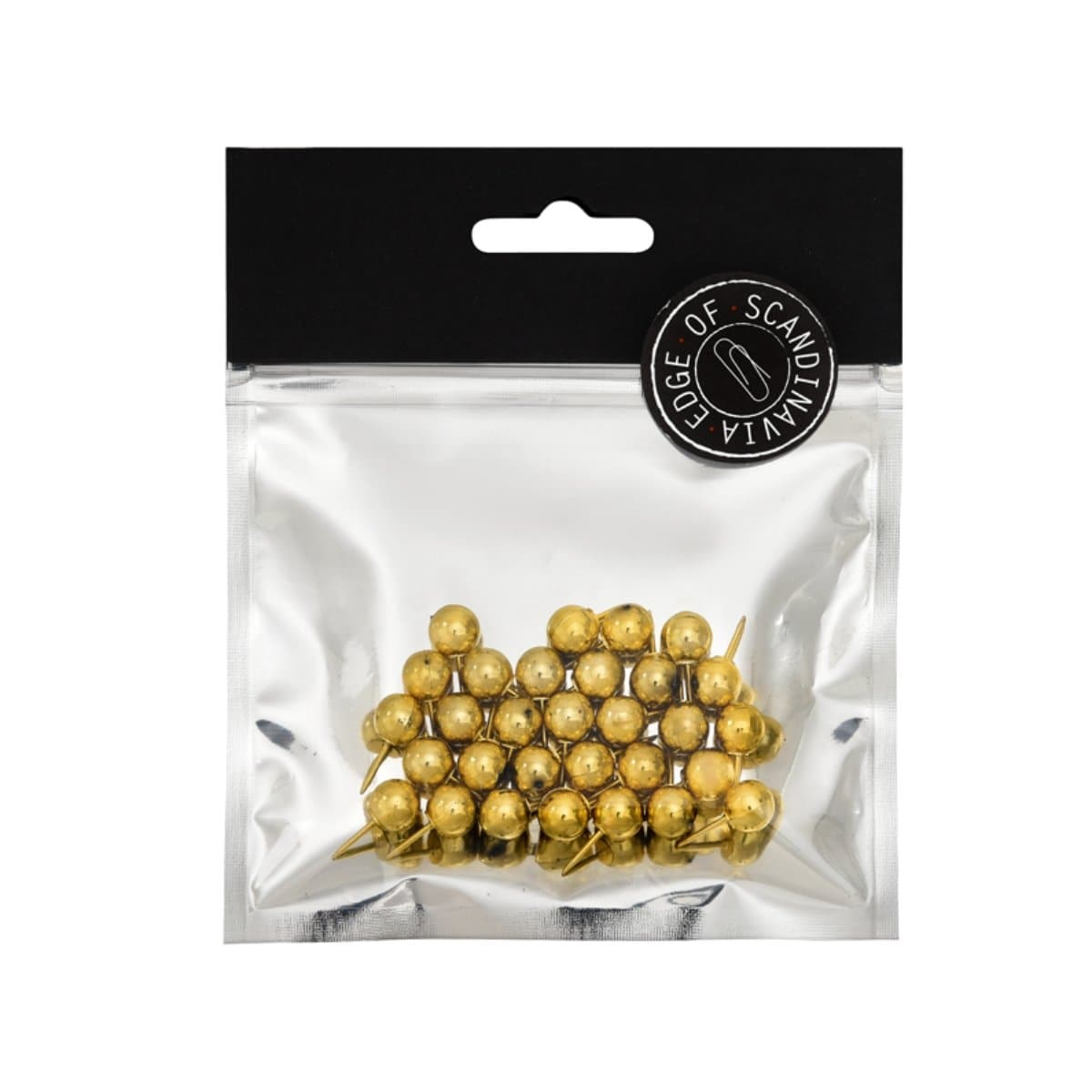 EDGE Push Pins, 20mm, 30/pack, Gold