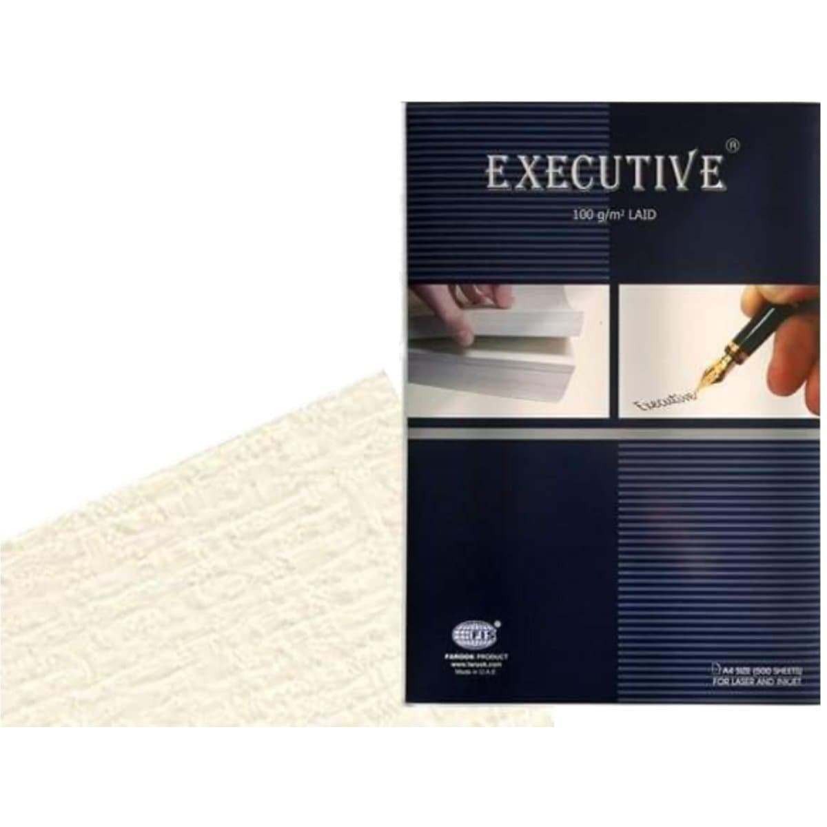 FIS Executive Laid Bond Paper A4, 100gsm, 500sheets/box, Off-White