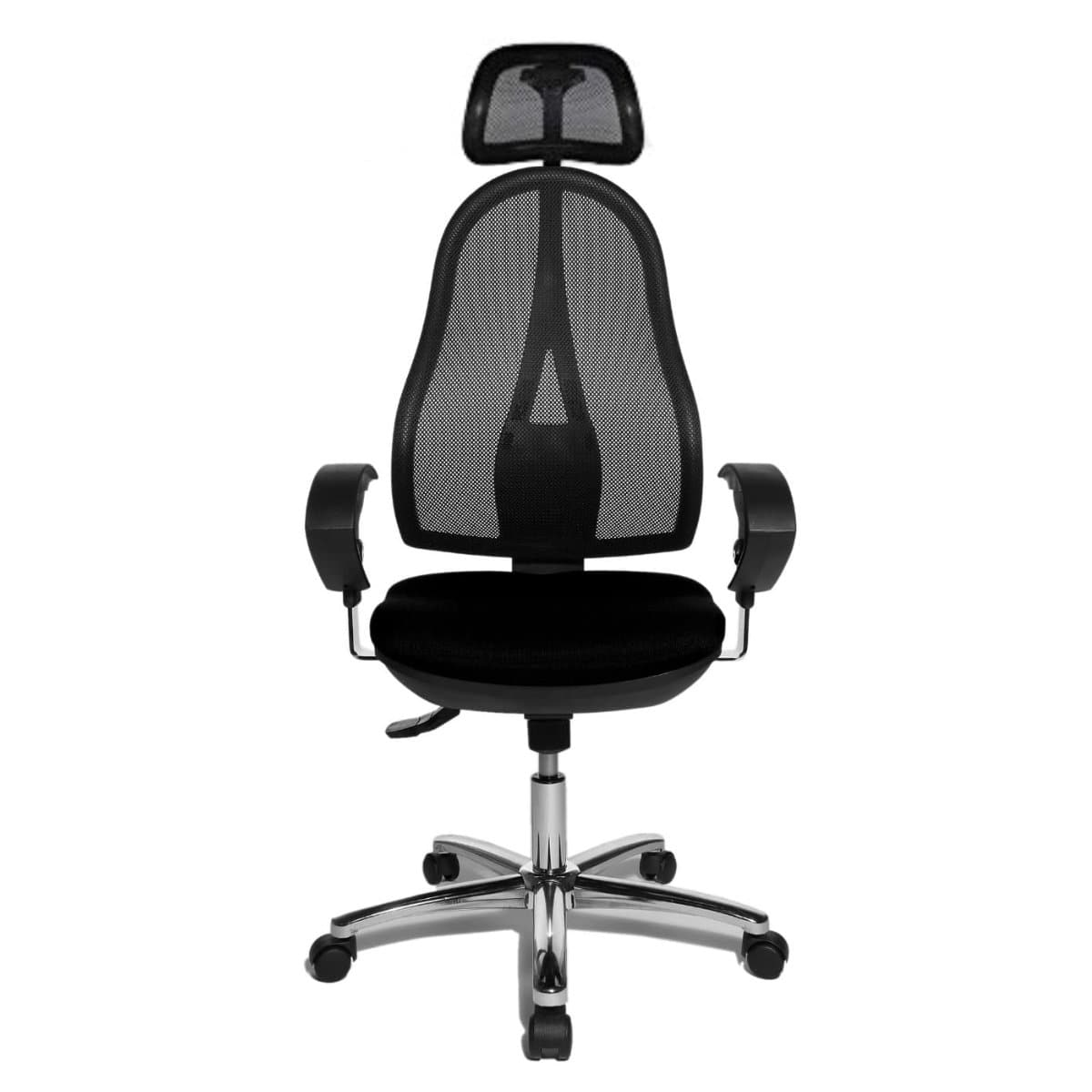 Topstar OPEN POINT SY Mesh Office Chair with Headrest,  Mesh/Fabric Black