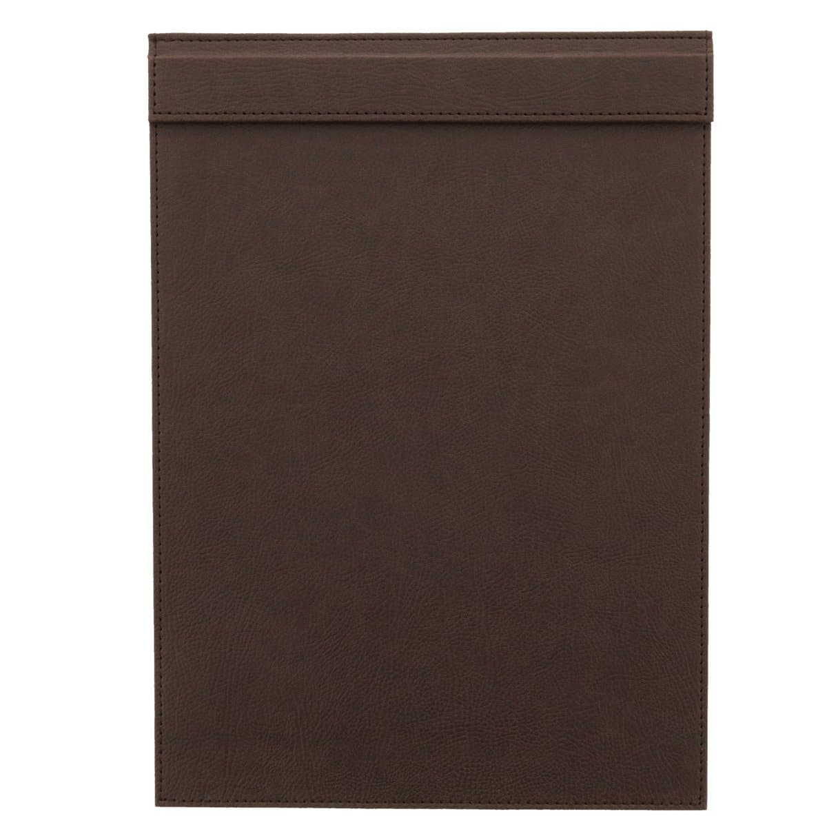 Konrad S. Clip Board with Magnetic Flap A4, PU Leather, Brown