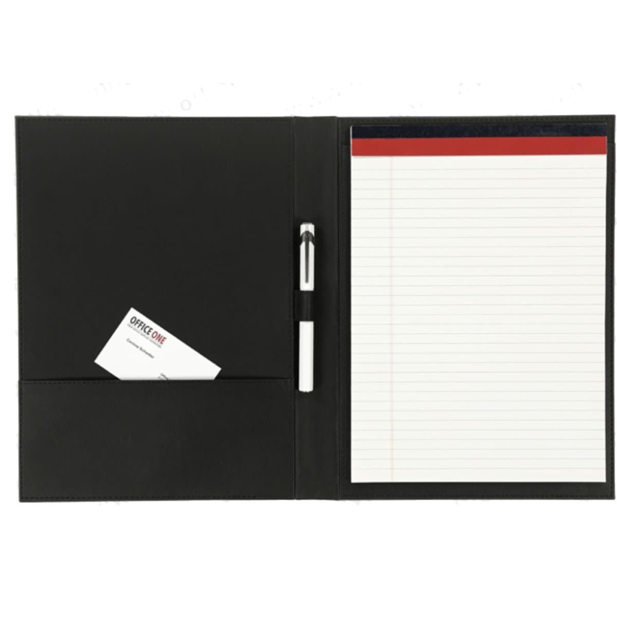 Konrad S. Conference Folder for A4 Notepad, PU Leather, Black