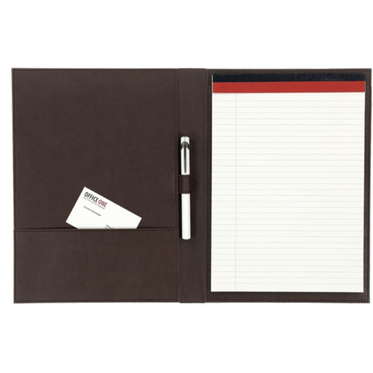 Konrad S. Conference Folder for A4 Notepad, PU Leather, Brown