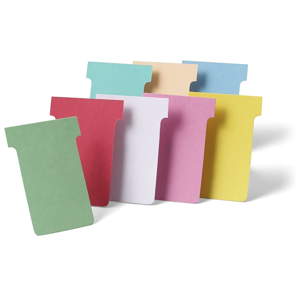 Nobo T-Cards Size 2, 48 x 85 mm, 100/pack, various colors