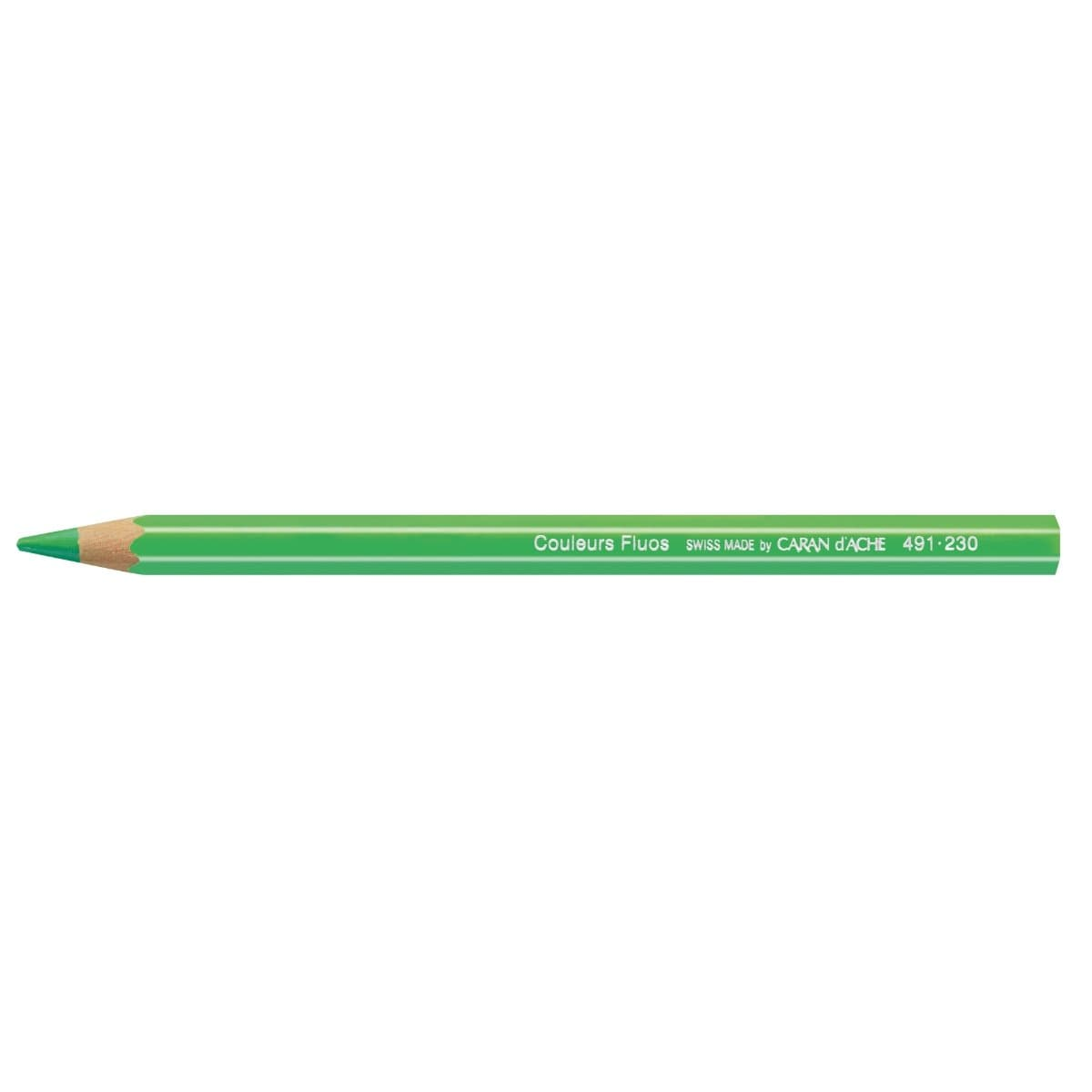 CARAN d'ACHE Fluorescent Color Pencil, Green