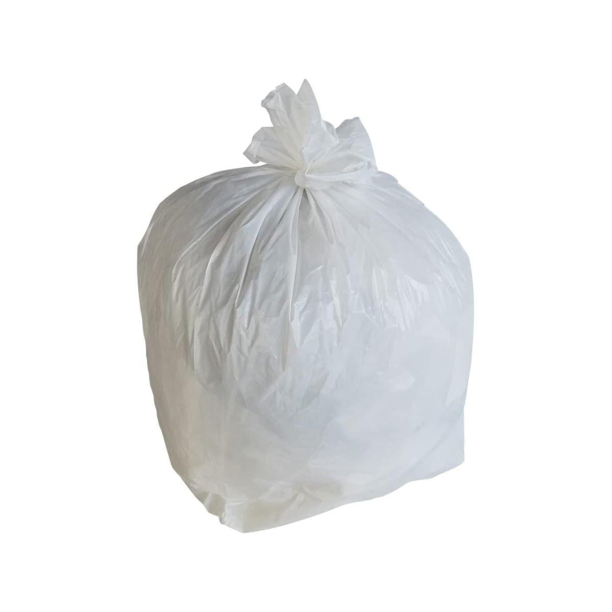 Club Plastic Garbage Bags, 10 Gallons, 30/pack, White