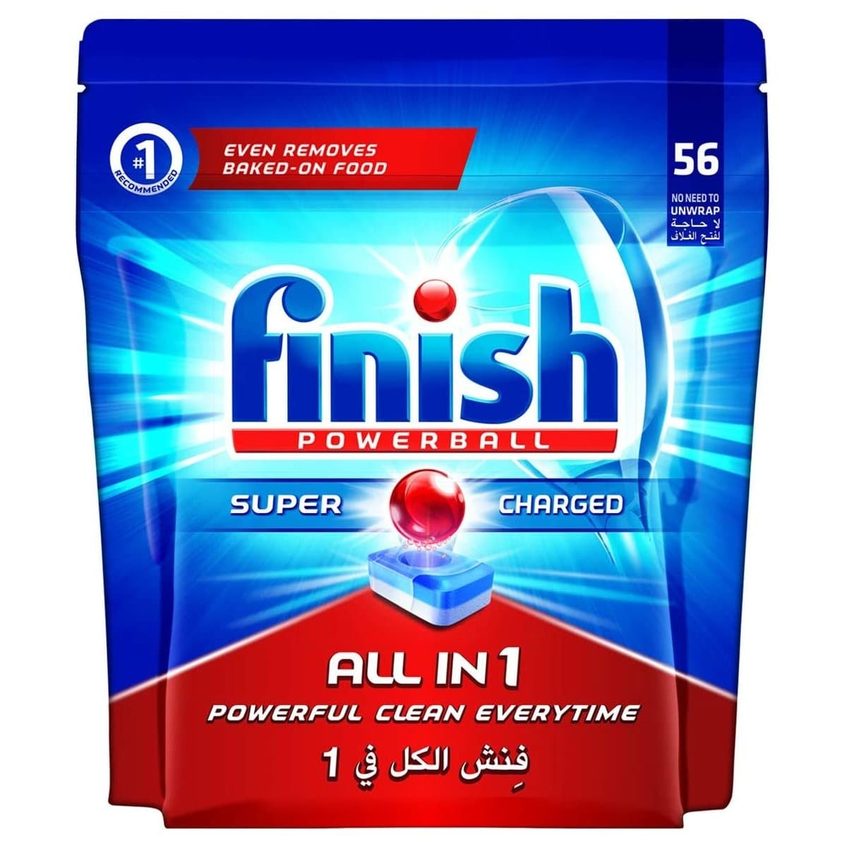 Finish All in 1 Regular Powerball Tablets, 56/pack