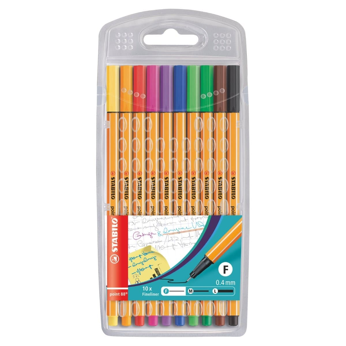 Stabilo Point 88 Fineliner, 0.4mm, 10/pack