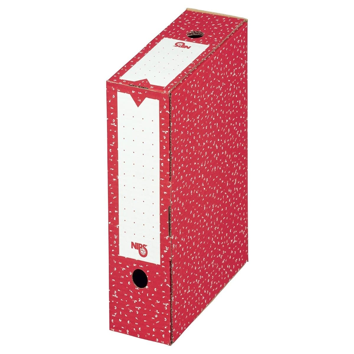 NIPS Archive Filing Box 80, W80xL265x H325mm, Red
