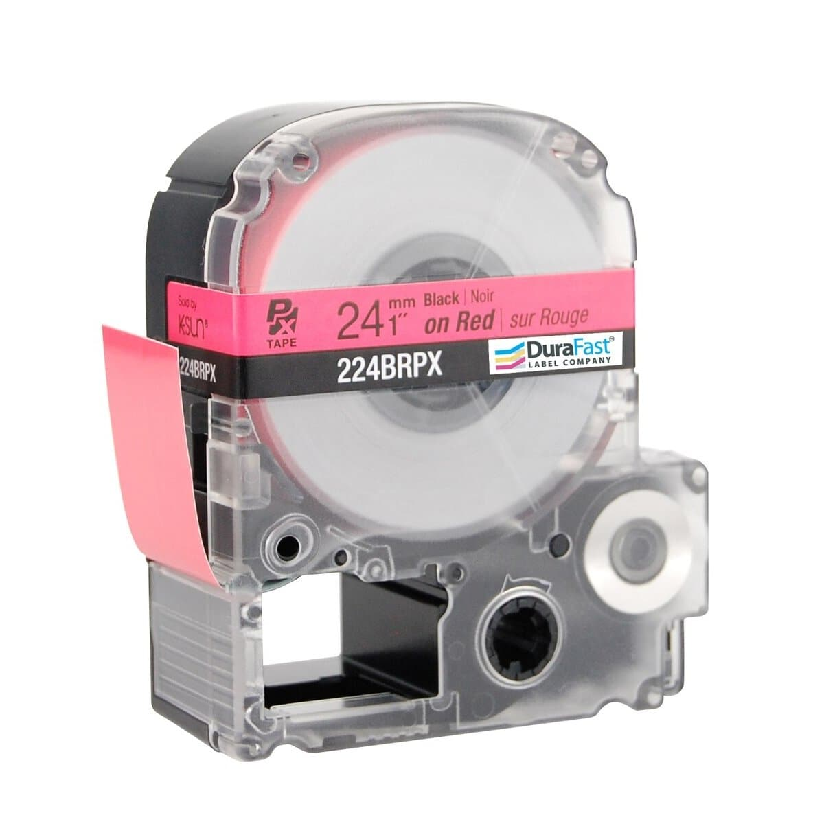 Epson LABELWORKS PX 24mm 224BRPX Tape, Black on Red