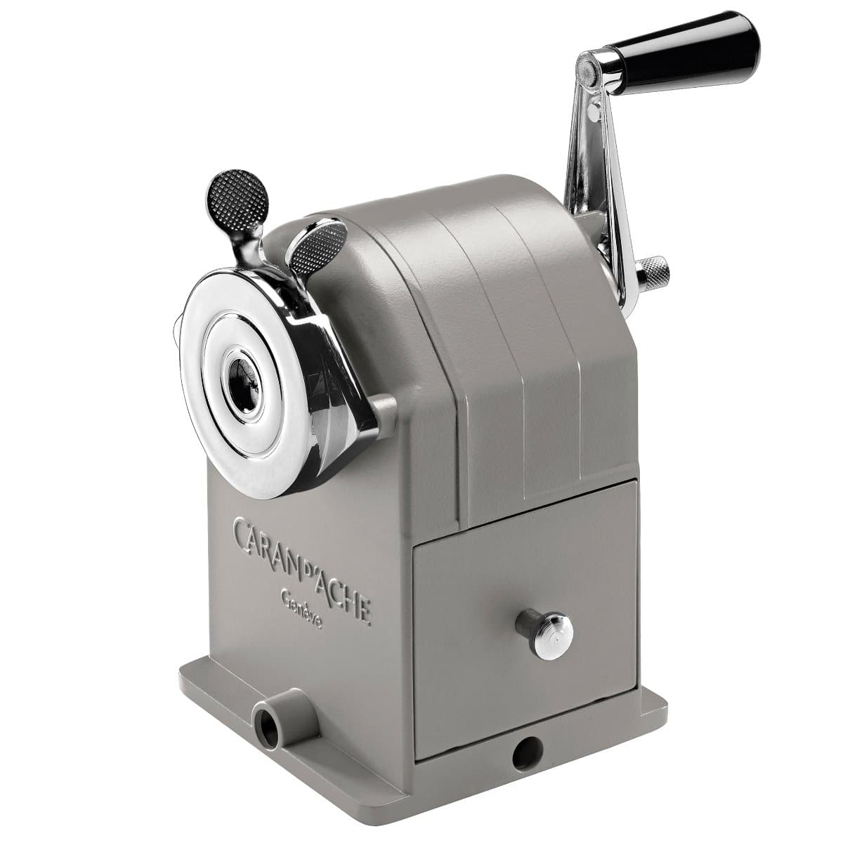 CARAN d'ACHE Metal Rotary Pencil Sharpener VINTAGE, Grey