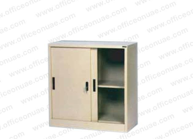 Rexel Filing Cupboard, 94x90.1x44.5 cm, Sliding Door, Beige