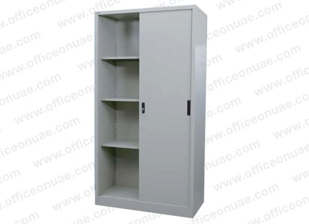 Rexel Filing Cupboard, 185x90.1x44.5 cm, Sliding Door, Off-White
