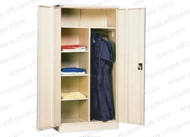 Rexel Domestic Cupboard, 183x91.8x48 cm, Swing Door, Off-White