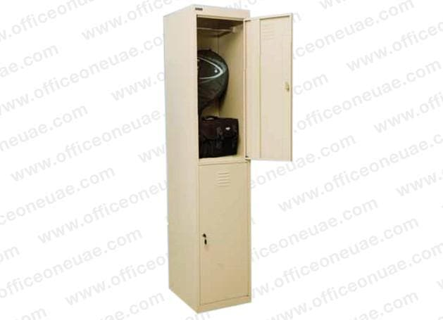 Rexel Locker, 180x37.5x46 cm, Two Door, Beige