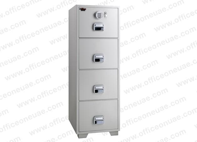 Eagle SF-680-4EKX Fire Resistant Filing Cabinet, 4 Drawers, Digital & Key Lock