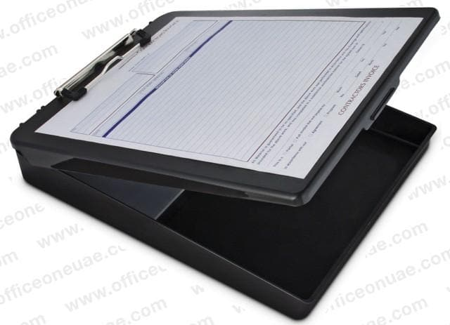 Saunders DeskMate, Storage Clipboard, Fits Forms A4, Black