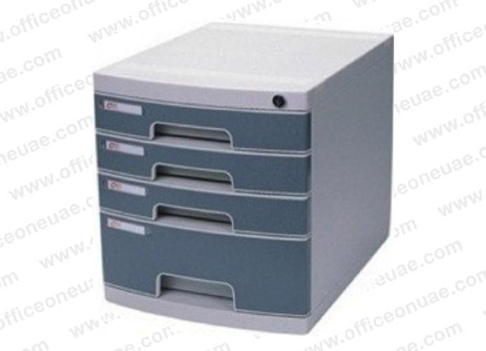 DELI 4 Drawer Cabinet with Lock, Grey