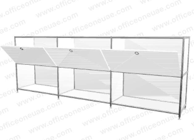 SYSTEM4 Sideboard, 228 x 80 x 40 cm, White