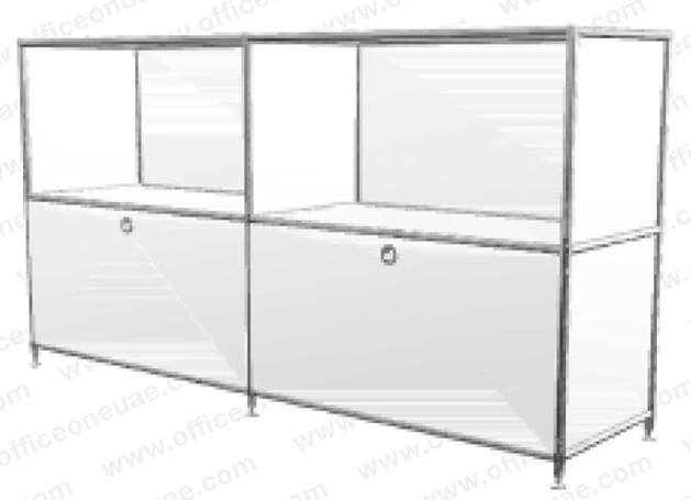 SYSTEM4 Sideboard with Hatches, 228 x 80 x 40 cm, White