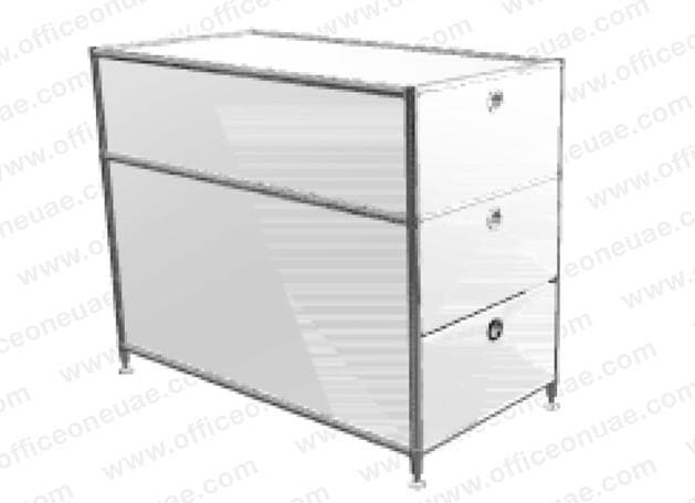 SYSTEM4 Drawer Unit with 3 Drawers, 41 x 76 x 60 cm, White