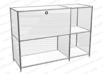 SYSTEM4 Sideboard with Drawers, 153 x 80 x 40 cm, White