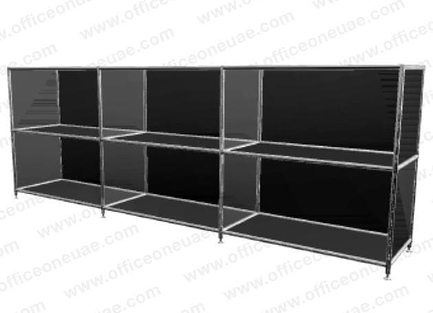 SYSTEM4 Shelf, 153 x 80 x 40 cm, Black
