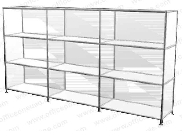 SYSTEM4 Shelf, 228 x 80 x 40 cm,  White