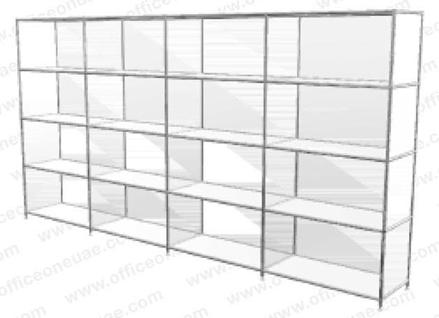 SYSTEM4 Shelf, 228 x 118 x 40 cm,  White
