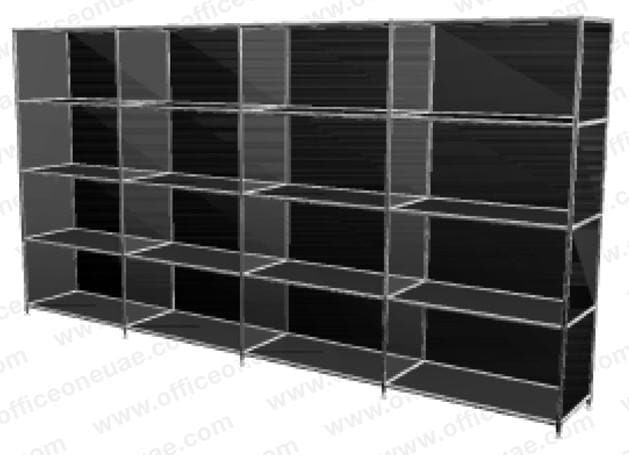 SYSTEM4 Shelf, 228 x 118 x 40 cm, Black