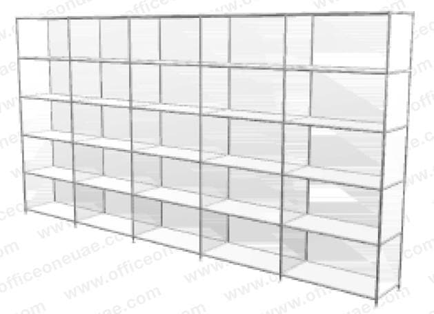 SYSTEM4 Shelf, 303 x 155 x 40 cm,  White