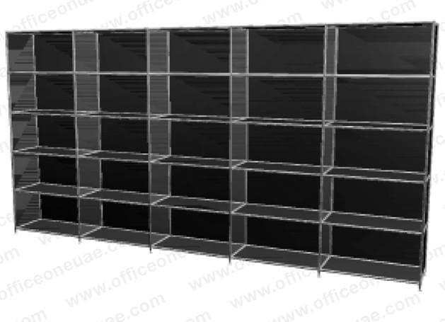 SYSTEM4 Shelf, 378 x 193 x 40 cm, Black