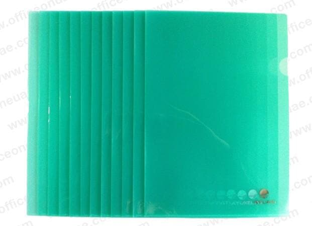 Atlas Clear L Folder A4, 12/pack, Green