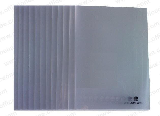 Atlas Clear L Folder A4, 12/pack, Clear
