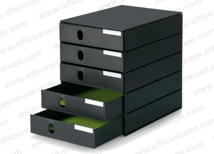 styro styroval PRO, 5 closed drawers, 243 mm wide, Black
