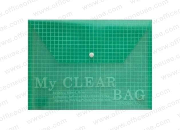 Deluxe Document  Bag 'My Clear Bag' A4, 12/pack, Green