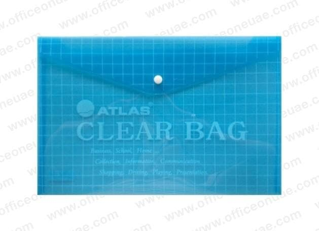 Atlas Document Bag 'My Clear Bag' F/S, 12/pack, Blue