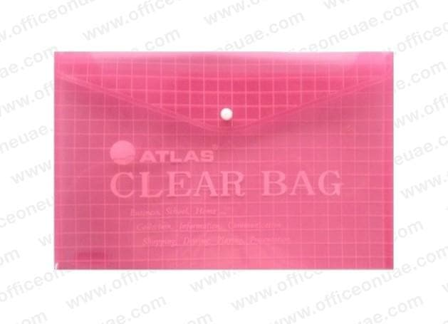 Atlas Document Bag 'My Clear Bag' F/S, 12/pack, Red