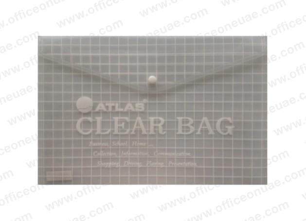 Atlas Document Bag 'My Clear Bag' F/S, 12/pack, Clear