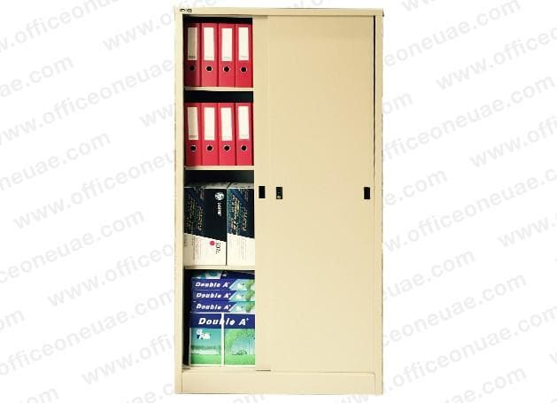 Rexel Filing Cupboard, 185x90.1x44.5 cm, Sliding Door, Beige