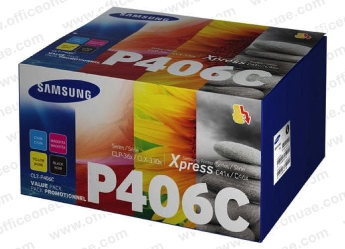 Samsung CLT-P406C Value Pack Toner Cartridge