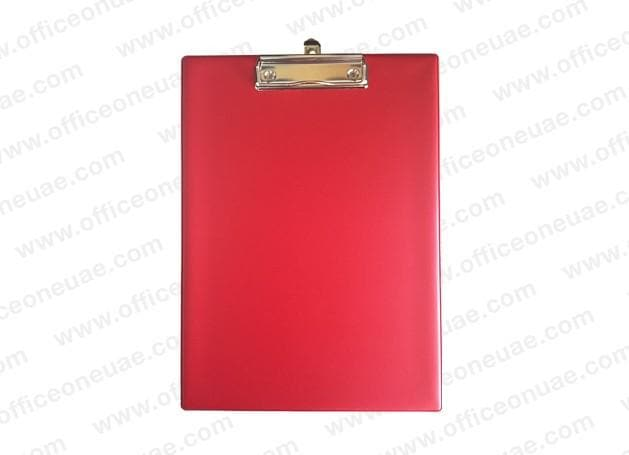 PVC Single Sided Clip Board, Red