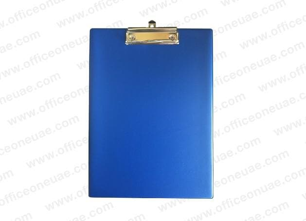 PVC Single Sided Clip Board, Blue
